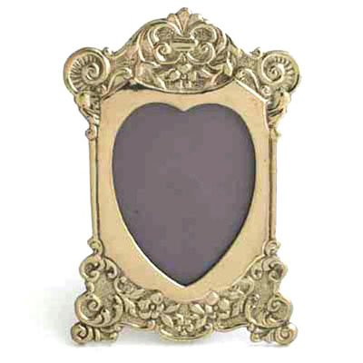 Liards Brass Victorian Heart Picture Frame for a 2