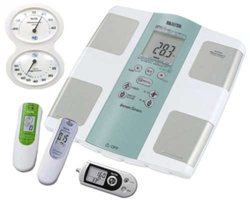 TANITA 2008バリューセット 健康くらしのサポート 5点【体組成計ブレスチェッカーアルコールセンサー温湿度計3Dセンサー搭載歩数計】   B0011DSRUA