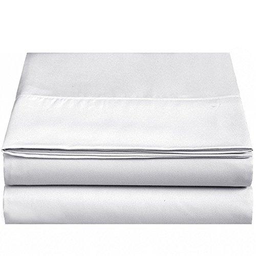 4U LIFE Flat sheet-Ultra soft & Comfortable Microfiber,White, Twin by 4U LIFE