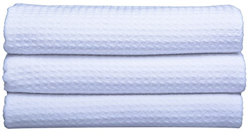 Sinland Microfiber Dish Drying Towels Dish Cloths Waffle Weave Kitchen Towels 16 Inch X 32 Inch 3 Pack White