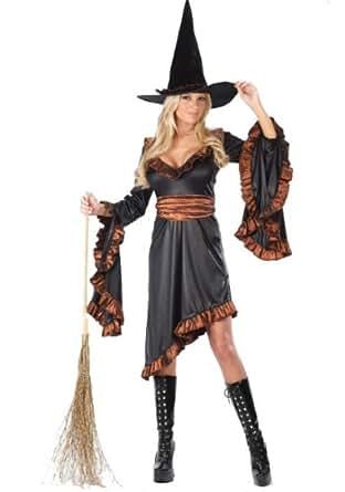 FunWorld Ruffle Witch Adult Costume 8-14 Orange