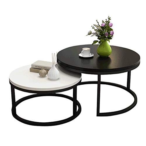 NJYT-Side-Table-Modern-Nightstand-Round-Sofa-Console-Tables-Telephone-Table-Coffee-Table-for-Living-Room-Bedroom-Balcony-Family-and-Office-Size-0Set-of-2-70cm50cm