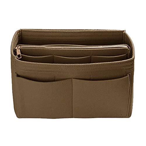 - Bsjmlxg Ladies Multifunctional Felt Makeup Bag Felt Bag Large Capacity Storage Bag Organizer Insert Divider Shaper Bag