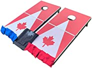 Portable Cornhole Game   Light Weight Foldable Complete Set w 2 Boards, 8 Bags & Carry