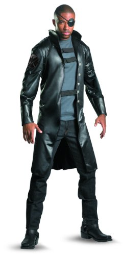Disguise Nick Fury Avengers Deluxe Adult Costume, Gray/Black/Burgundy,