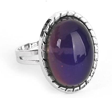 Vintage Retro 70s Oval Mood Ring Color Changeable Emotion Feeling Adjustable – The Super Cheap