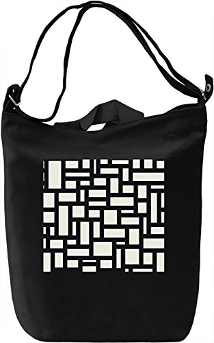 Black And White Modern Texture Borsa Giornaliera Canvas Canvas Day Bag| 100% Premium Cotton Canvas| DTG Printing|
