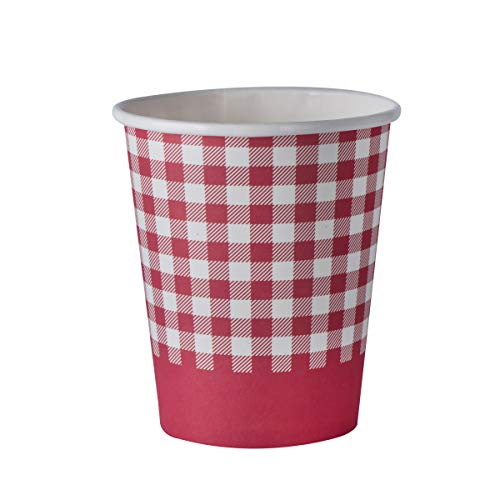 (Picnic Themed 9 oz Disposable Paper Cups – Ideal for Family Dinner, Birthday and Picnic Parties(50)
