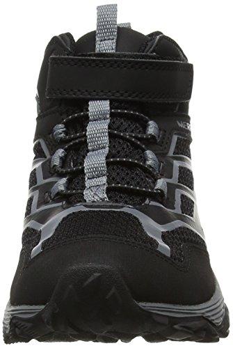 de Merrell FST Noir WTRPF Mid C Moab Garçon M Black Hautes A Randonnée Chaussures 8E8qrw46xA