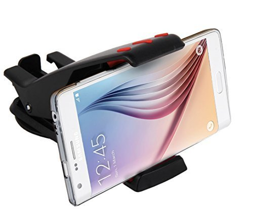 Abco Tech Cell Phone Holder for Car Dashboard - Sturdy Mobile Phone Car Mount with 360 Rotation by Abco Tech (Black/Red)