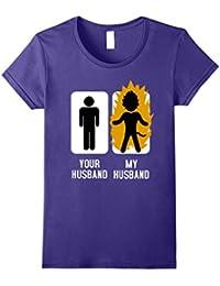 Your Husband My Husband Shirt : Anime Superhero Vs Hubby Dad