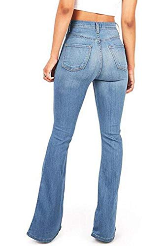 Jean Slim 1color Blu Donne Alte Cut Pantaloni Skinny Vita Jeans Le Fit Boot x7tXAwx