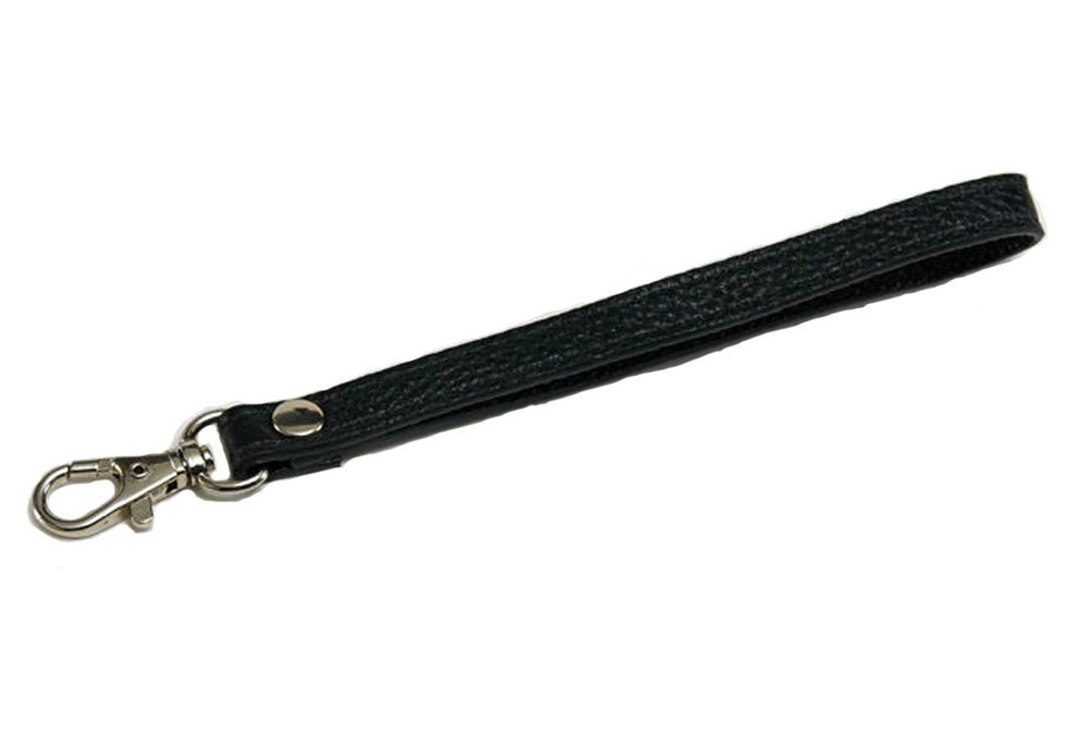 Black Newest Handmade Genuine Leather Replacement Wrist Strap For Clutch//Wristlet//purse//pouch