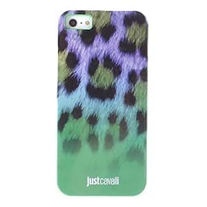 MOFY- El caso de moda Suave verde del estampado leopardo anti-choque para el iPhone 5/5S