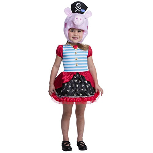 Peppa The Pig Costume (Peppa Pig Pirate Costume, 3-4T)