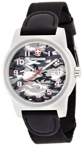 Wenger Field Classic Grey Dial Nylon Strap Men's Watch 01.0441.108