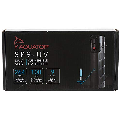 AQUATOP AQUATIC SUPPLIES 003560 Multi Stage Submersible UV Filter Black, 264 Gph ()