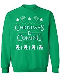 Ugly Christmas Funny Xmas Gift Crewneck Sweatshirt (Green)