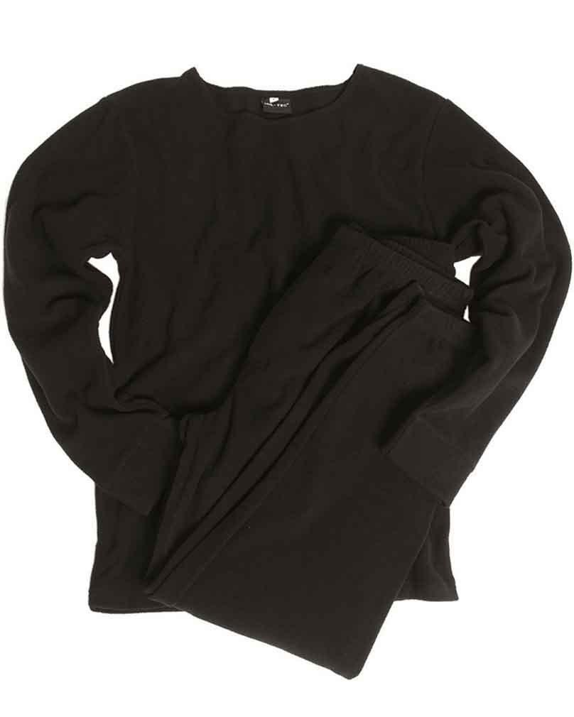 Mil-Tec - Coordinato Abbigliamento Termico - Uomo, Uomo, Nero, XS 11221002