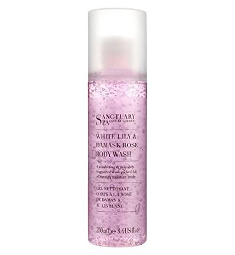 White Rose Shower Gel (Sanctuary Spa Body Wash White Lily And Damask Rose 250Ml)