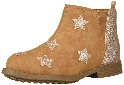 OshKosh B'Gosh Girls' Harlow Ankle Boot, tan, 12