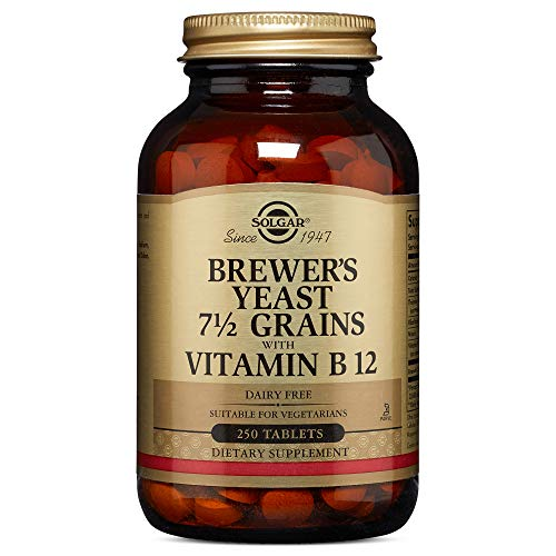 Solgar - Brewer's Yeast 7 1/2 Grains with Vitamin B12, 250 Tablets (Best Brewers Yeast Tablets)