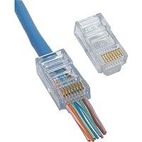 Platinum Tools 100003C EZ-RJ45 Connectors, Clamshell, 50-Pieces (2)
