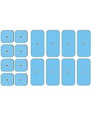 set van 16 TENSPAD SILVER-elektroden compatibel met Beurer, Bluetens, Sanitas, Vitalcontrol-apparaten (8 eenheden 50x50 mm + 8 eenheden 50x100 mm)