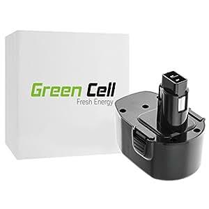 Green Cell® Batería de Herramienta Eléctrica para DeWalt DW985K-2 (Ni-MH 2Ah 14.4V)
