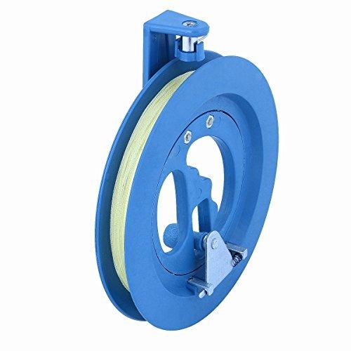 Vicloon Ronda Exterior de Plá stico ABS 18cm Cometa Bobinadora Carrete con Conector de la Lí nea 200 para niñ os(azul) BHBAZUALIn303