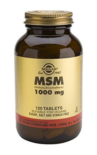 Solgar MSM comprimés 1000 Mg 120 comte