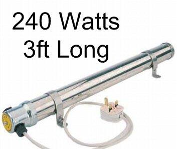 3 ft Calentador de tubo de aluminio para invernaderos/cobertizos/Barcos 240 vatios