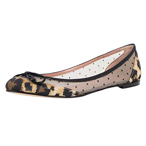 (Red Valentino Women's Valentino with Bow Mesh Flats Shoes US 37 EU 7 Black)
