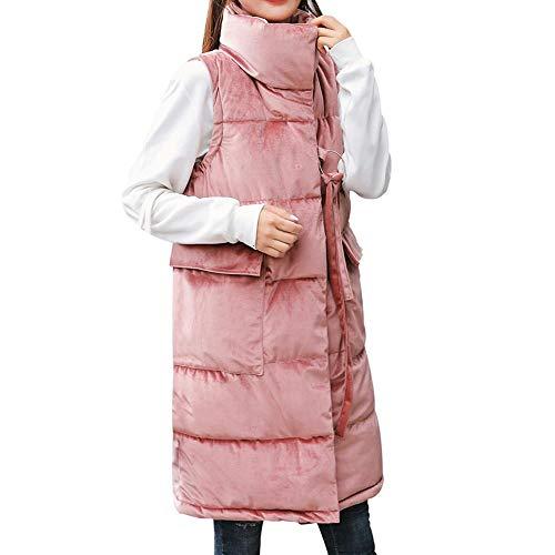 Cuello Outwear Soporte Logobeing Invierno Chaleco Rosado Delgado Plumas Botón Cálido Con Chaqueta Abrigo Mujer De Parkas xwq4wIA