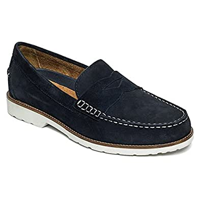 Rockport Mens Classic Penny Loafer,New Dress Blues Suede,US 9.5 M