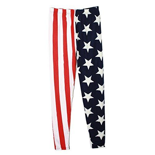 Children's Park Avenue Girls Red White Blue American Flag Pattern Stretchy Trendy Leggings 6/8 Park Avenue Dress