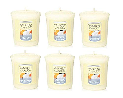 Yankee Candle Juicy Citrus and Sea Salt Samplers Votive Set of 6