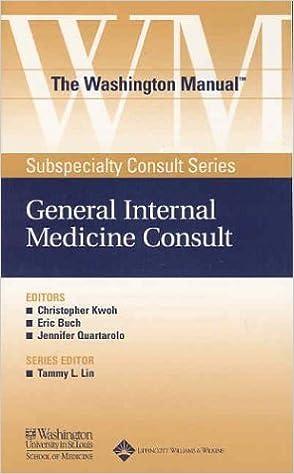 Book The Washington Manual?? General Internal Medicine Consult (The Washington Manual?? Subspecialty Consult Series) by Washington University School of Medicine Department of Medicine (2003-10-28)