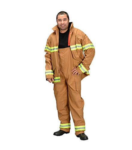 Aeromax Adult Firefighter Suit, Size Adult Large (Tan) (Choice of Helmet Sold Separately)