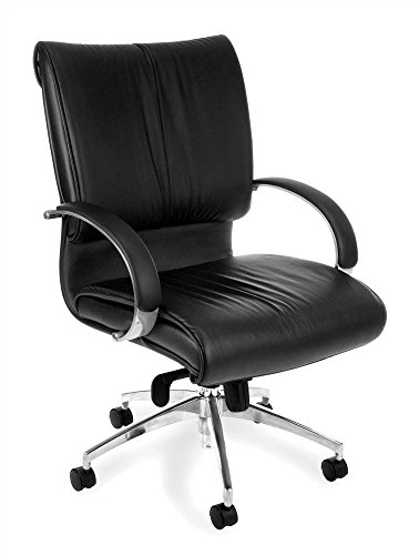 - OFM Sharp Series Mid-Back Executive Leather Chair - Mid Back Ergonomic Office Chair (511-L)