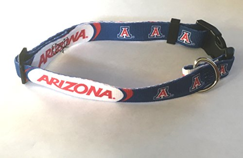 Arizona University Wildcats Pet Dog Adjustable Collar All Sizes (Large)