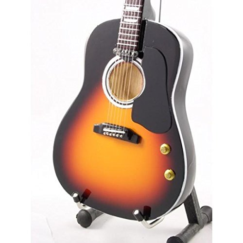 Mini Guitar BEATLES JOHN LENNON Acoustic Sunburst STATUETTE