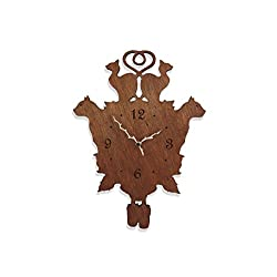 inPhoenix Cat Themed Cuckoo Clock - Pets Kittens - Meow - Modern Novelty Gift - Custom Wooden Wall Clock