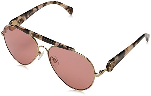 Tommy Hilfiger Gigi Aviator Sunglasses, Gold Havana Pink/Red, 58 - Hilfiger Tommy Aviators