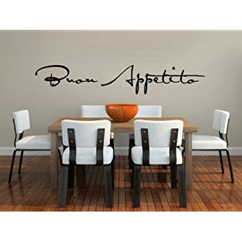 This Item Buon Appetito Vinyl Wall Decal For Dining Room Or Kitchen