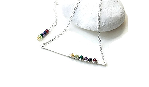 Grandmother Necklace Birthstone Jewelry Bar Necklace Mothers Day Gift Mother/'s Necklace Christmas Gifts Birthstone Necklace
