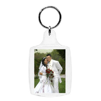Acrylic Photo Snap-in Key Chain - 1 3/8 X 1 3/4'' (Pack of 25)