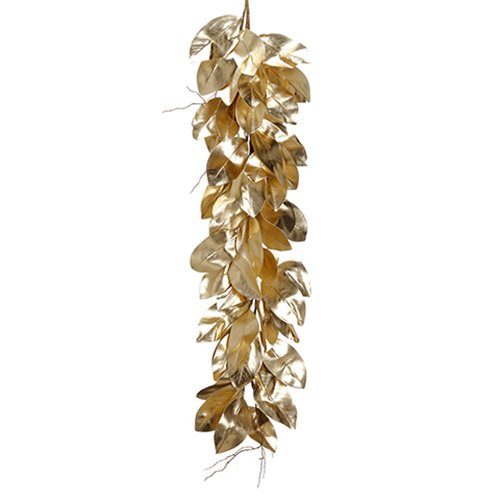 4'6'' Magnolia Leaf Artificial Garland -Gold (pack of 4)