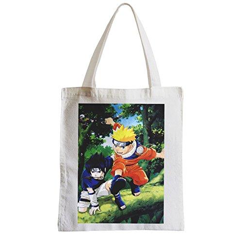 Grand Sac Shopping Plage Etudiant naruto sasuke compagnon d armes manga
