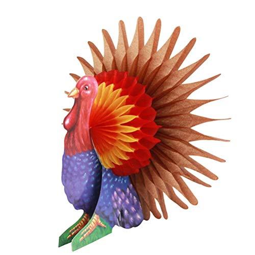 Polymer Turkey Centerpiece, Turkey Honeycomb Thanksgiving Table Centerpiece Thanksgiving Party Favors Supplies ()
